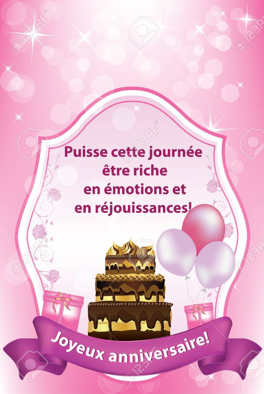 Amazing French Birthday Greeting Card May This Day Be Rich In Emotions Personalised Birthday Cards Paralily Jamesorg