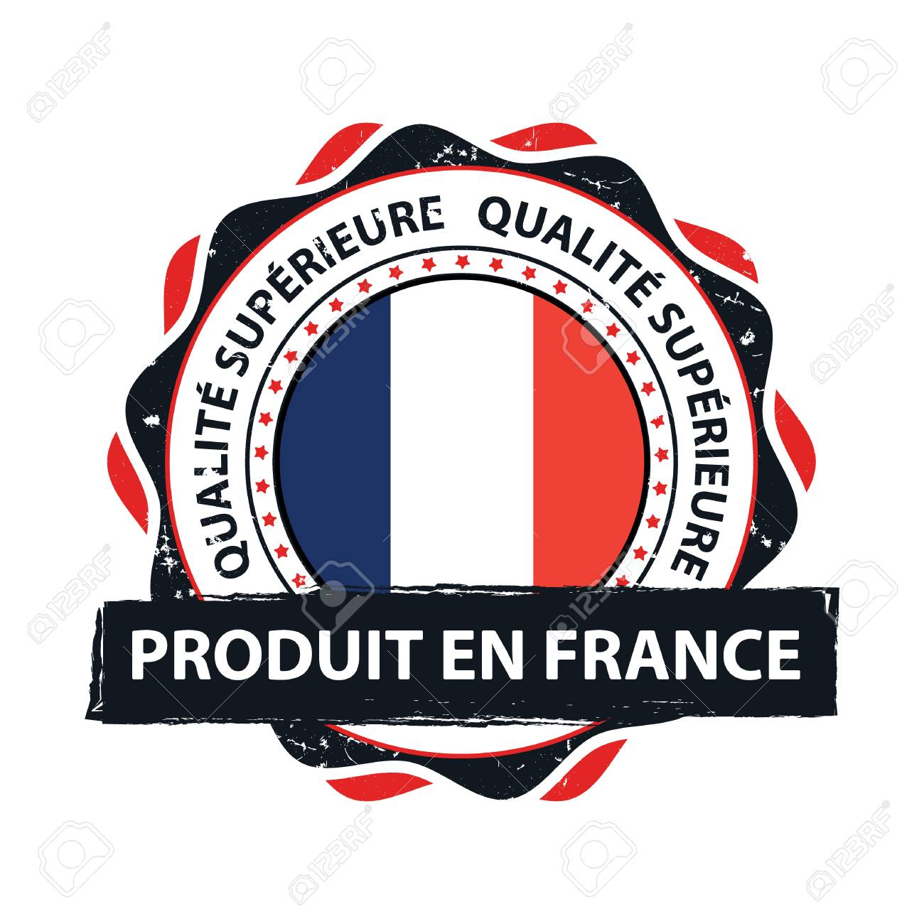 Map Of France In French Language.Made In France Premium Quality French And English Language