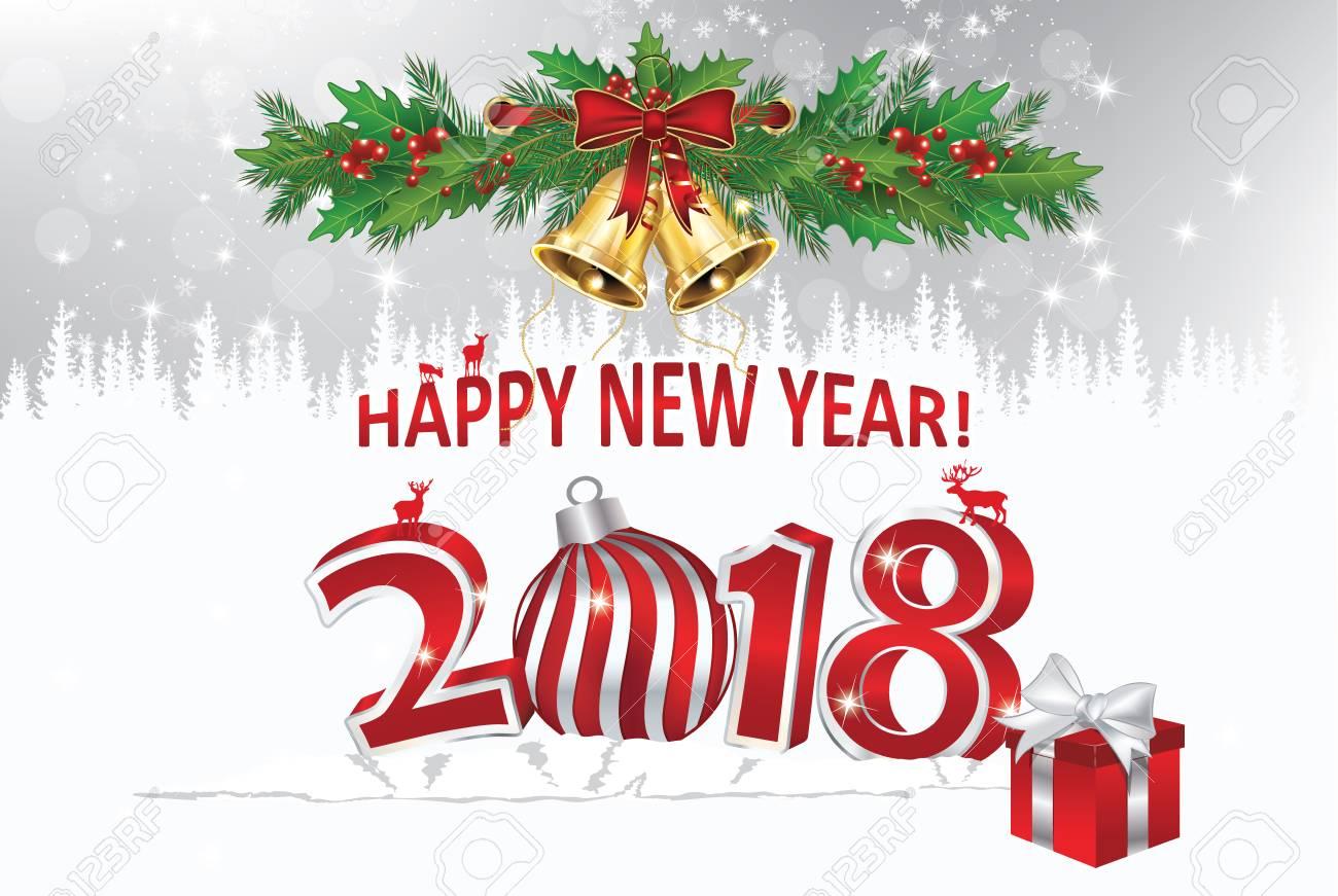 Biglietto Di Auguri Per Le Festività Natalizie 2018 Buon Anno