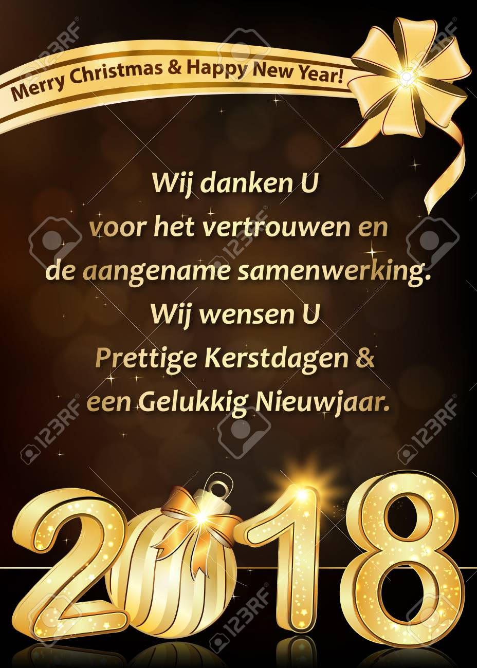 Thank you dutch business new year greeting card we wish to thank stock photo thank you dutch business new year greeting card we wish to thank you for your trust and cooperation we wish you merry christmas and happy colourmoves