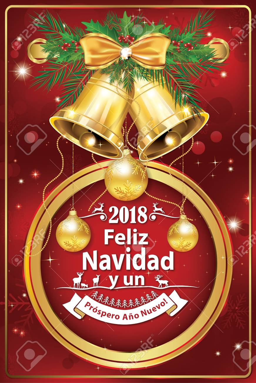 Christmas Eve In Spanish.2018 Christmas New Year Greeting With Text In Spanish We Wish