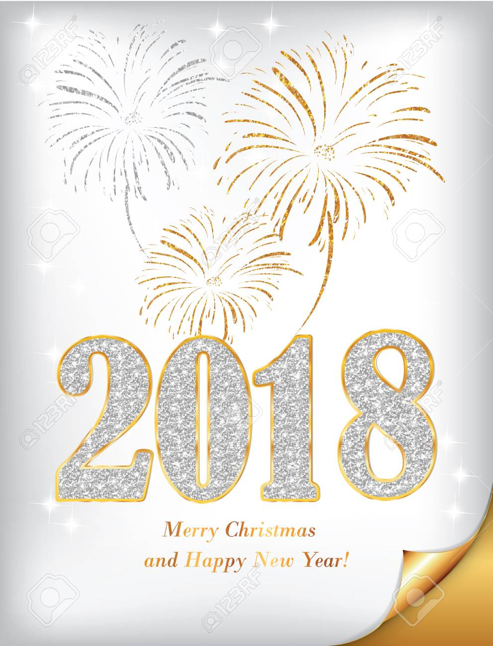 Merry christmas and a happy new year 2018 silver background merry christmas and a happy new year 2018 silver background for holidays season greeting m4hsunfo