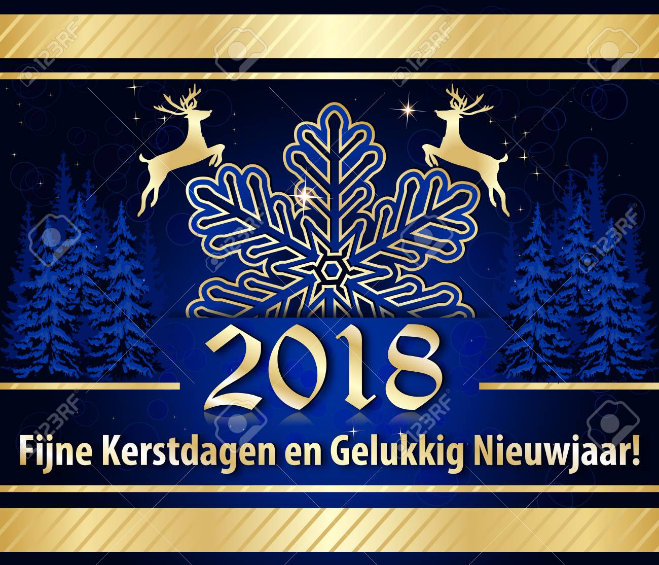 happy new year 2018 written in dutch corporate greeting card stock photo 92551282