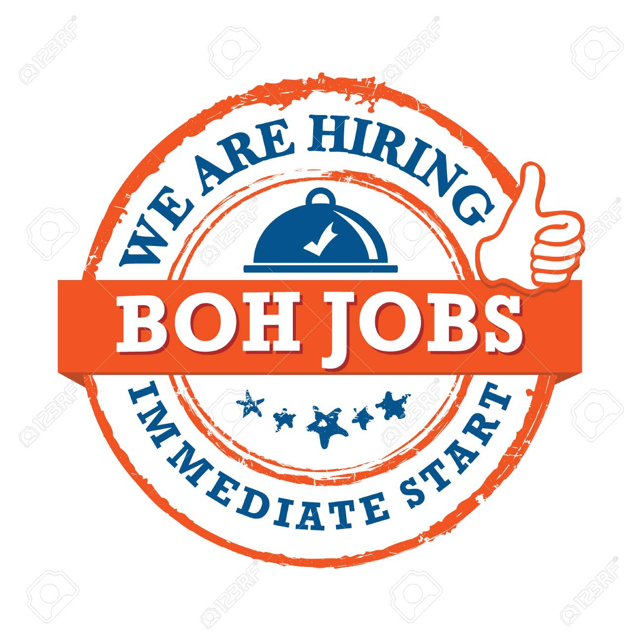 BOH jobs available - printable sticker for designed for companies