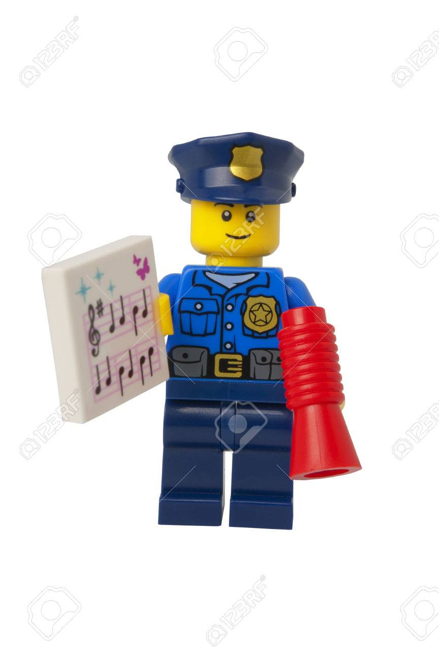 Adelaide australia september 11 2014a studio shot of a policeman adelaide australia september 11 2014a studio shot of a policeman holding carols sheet lego minifigure issued in the 2014 lego advent calendar voltagebd Choice Image