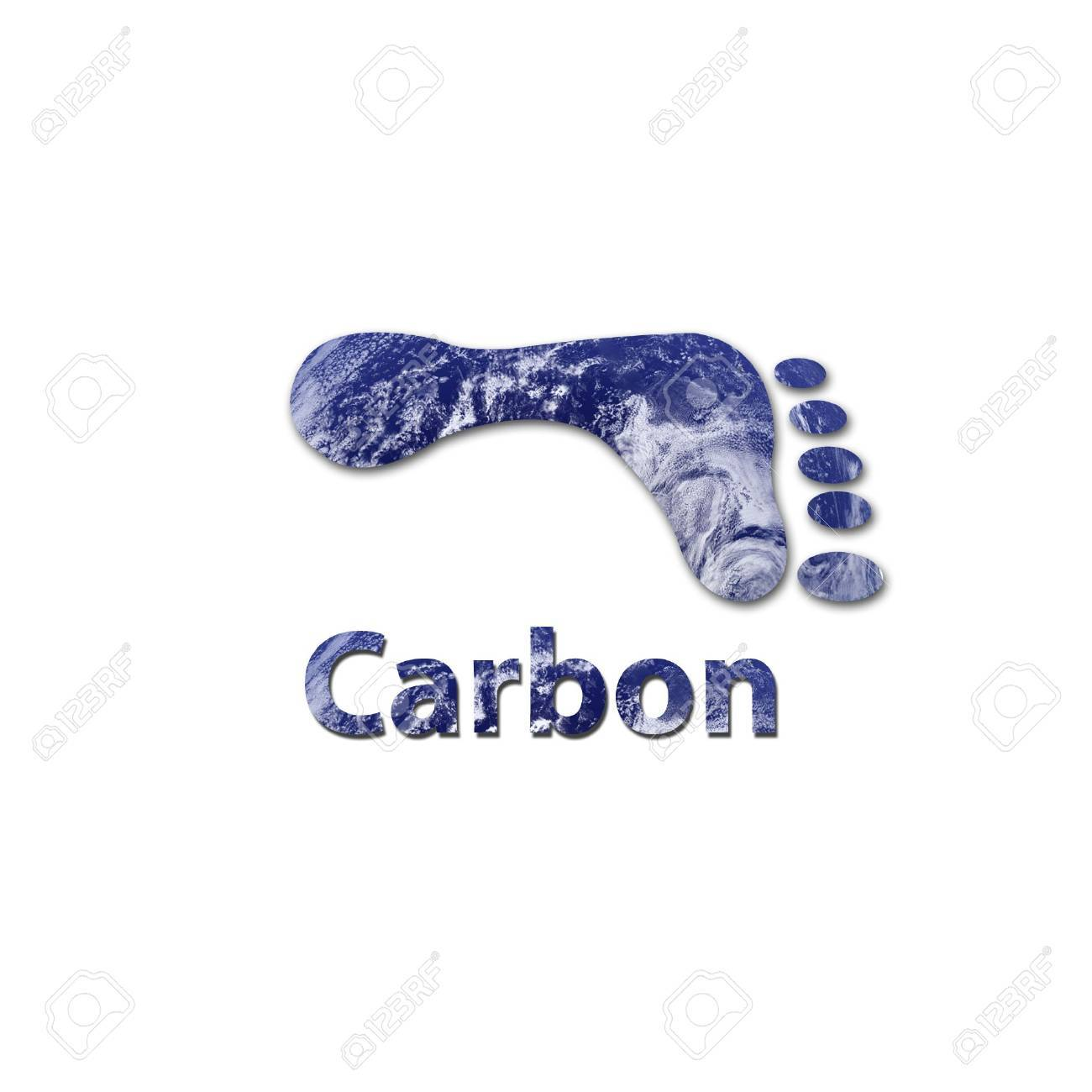 Footprint made up of water to represent environmental issues or carbon footprint. Stock Photo - 6481326