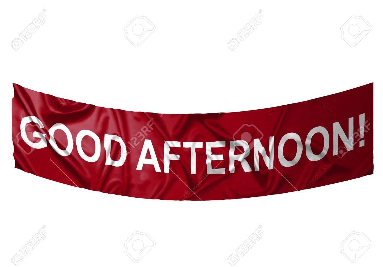 Une Bannière Rouge Avec Texte Blanc Dire Bonjour