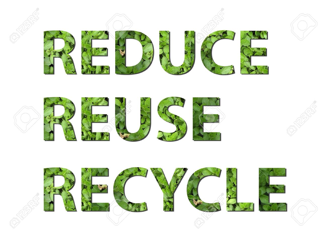 The Words Reduce Reuse Recycle Are Written Composing Of Elements