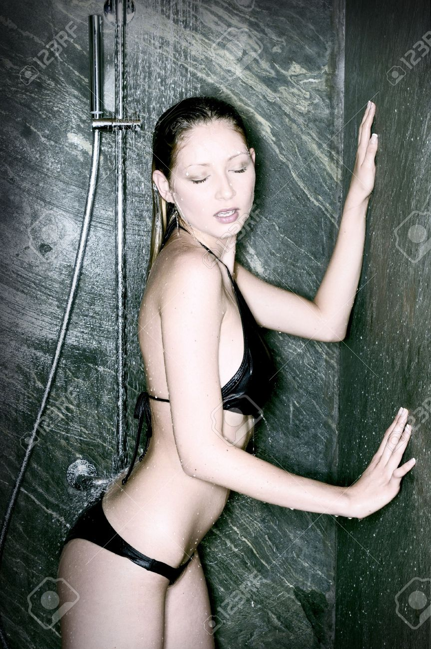 Nice Woman In The Shower Stock Photo Picture And Royalty Free