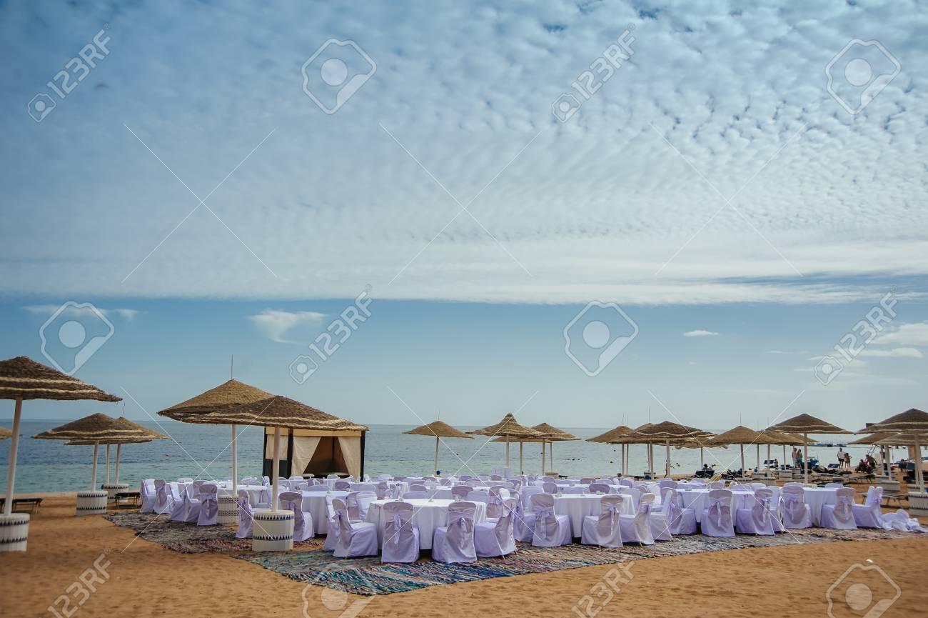 Rote Meer Agypten Vacaion Sand Blauen Himmel Hochzeit Dekoration
