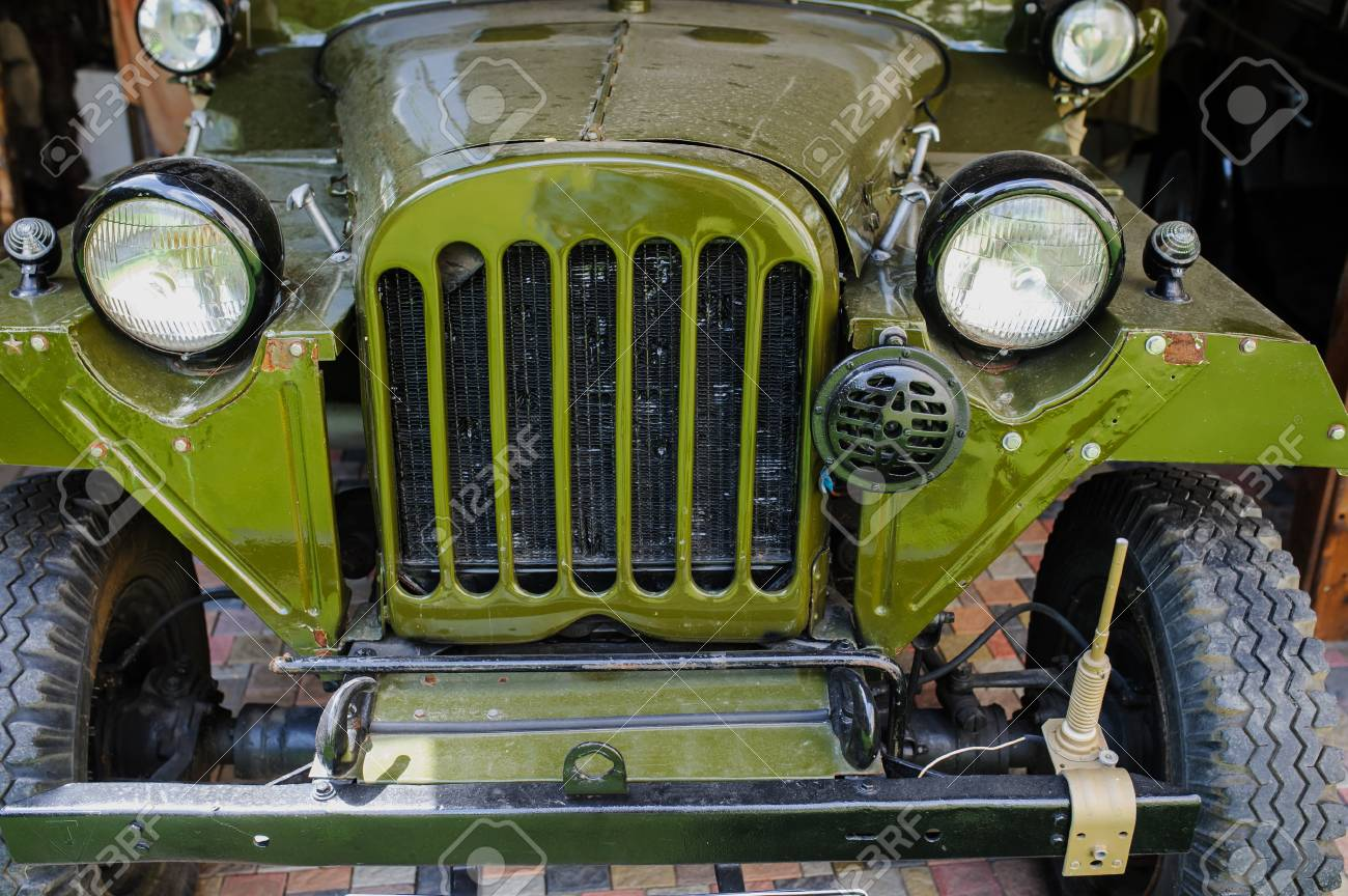 Soviet Union Retro Old Cars, That Are In Good Condition. Stock ...
