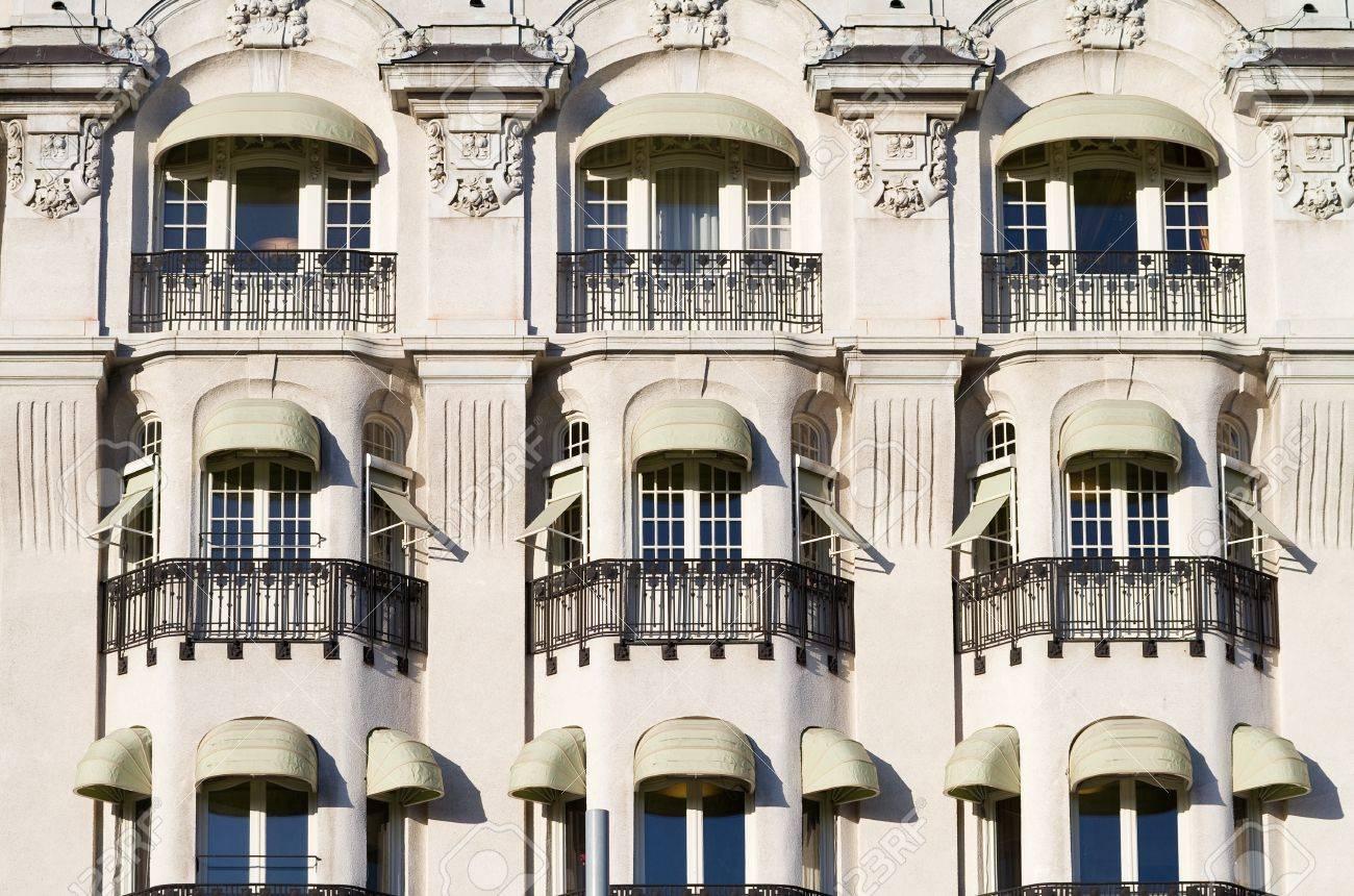 Vintage facade with decorative balconies. Stock Photo - 17020059