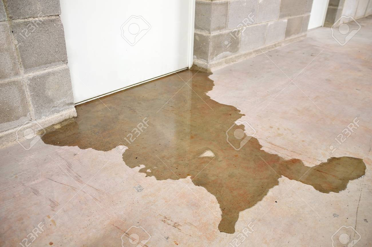 Water damage in basement caused by sewer backflow due to clogged sanitary drain - 100204362
