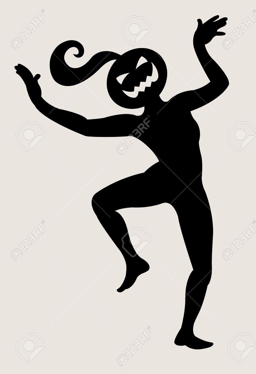 halloween dancer silhouette pose dancing shadow illustration style stock vector 12670018 - Dancing Halloween