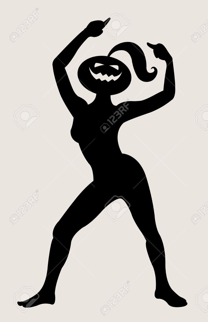 halloween dancer silhouette pose dancing shadow illustration style stock vector 12670020 - Dancing Halloween