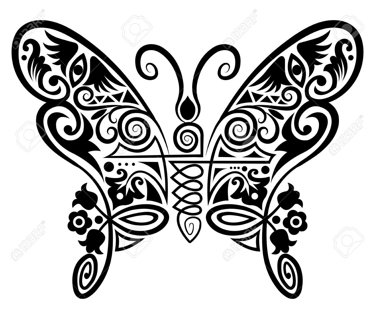 insect ornament drawing Stock Vector - 12886401