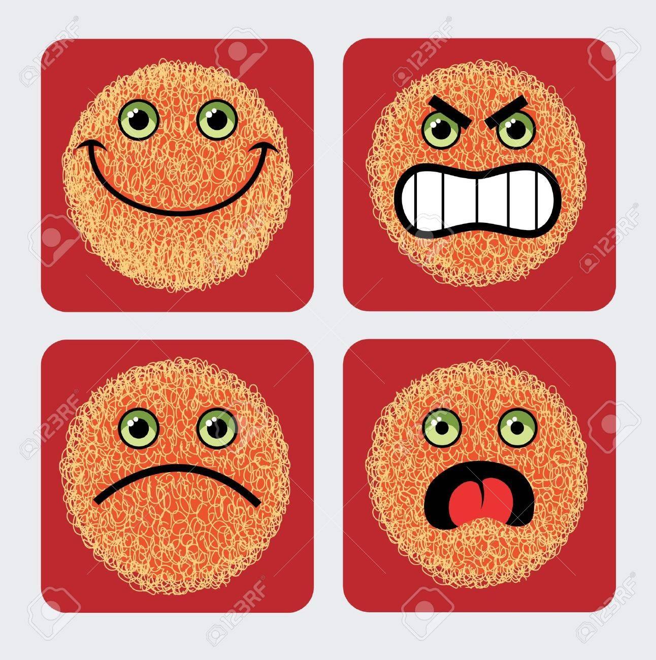 Emoticon icons Stock Vector - 15243523
