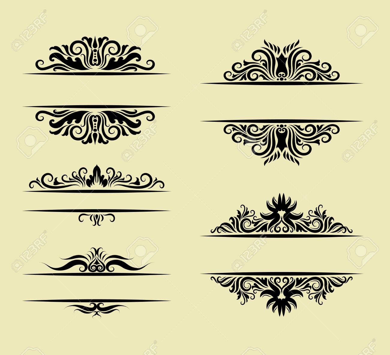 Floral ornament decoration use for label invitation element floral ornament decoration use for label invitation element ornament easy to use stock vector stopboris Choice Image