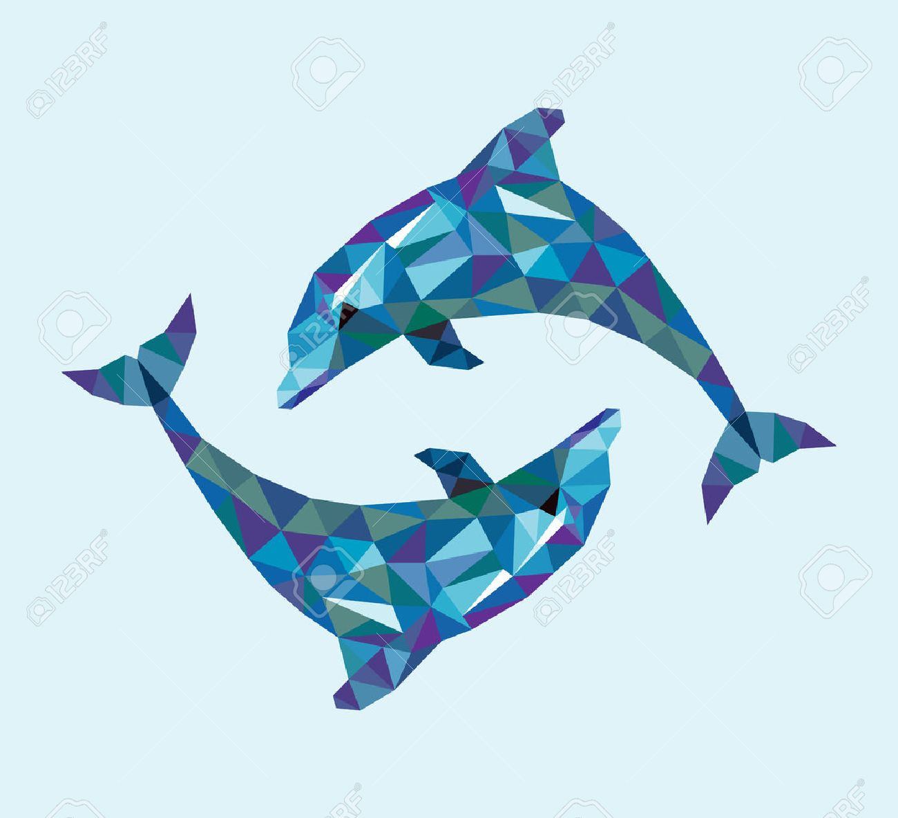 Dolphin images stock pictures royalty free dolphin photos and dolphin triangle low polygon style nice and clean vector good use for your symbol pronofoot35fo Choice Image