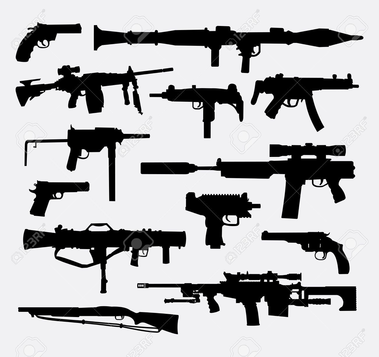 Gun weapon silhouettes good use for symbol web icon logo gun weapon silhouettes good use for symbol web icon logo mascot biocorpaavc Images
