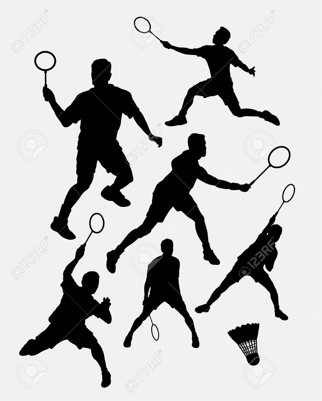Badminton Male Sport Player Silhouette 1 Good Use For Symbol Web