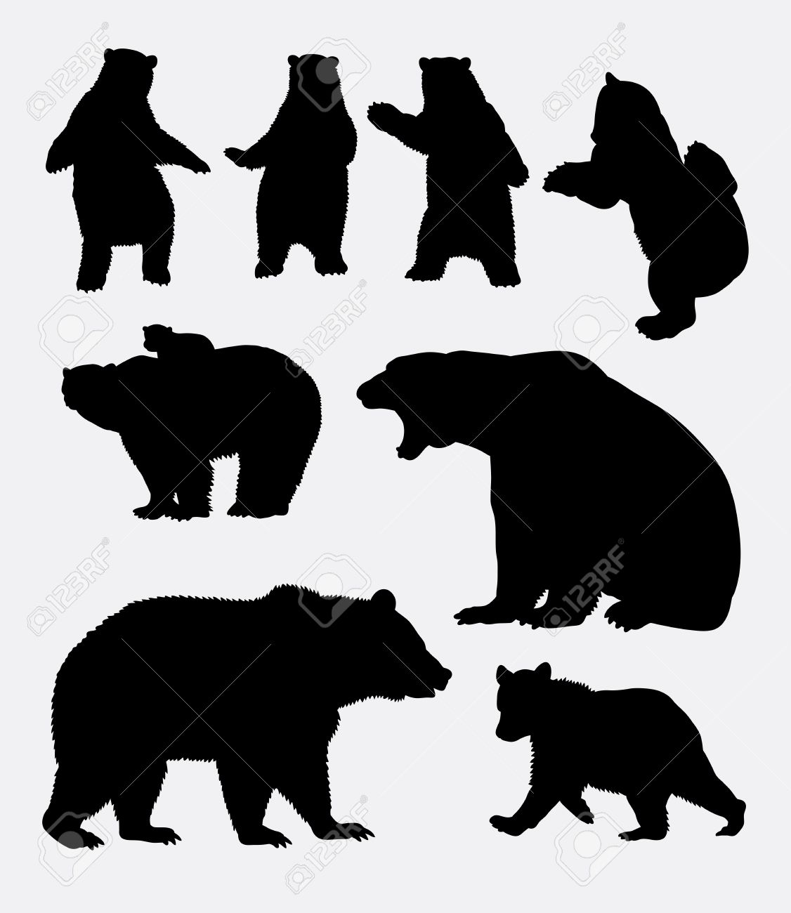 bear silhouette stock photos royalty free bear silhouette images  - bear silhouette bear wild animal silhouette  good use for symbol  web