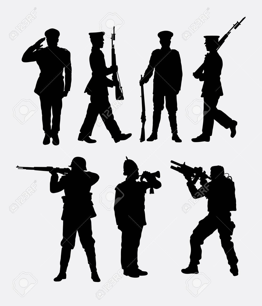 Soldier army and police 1 good use for symbol web icon mascot