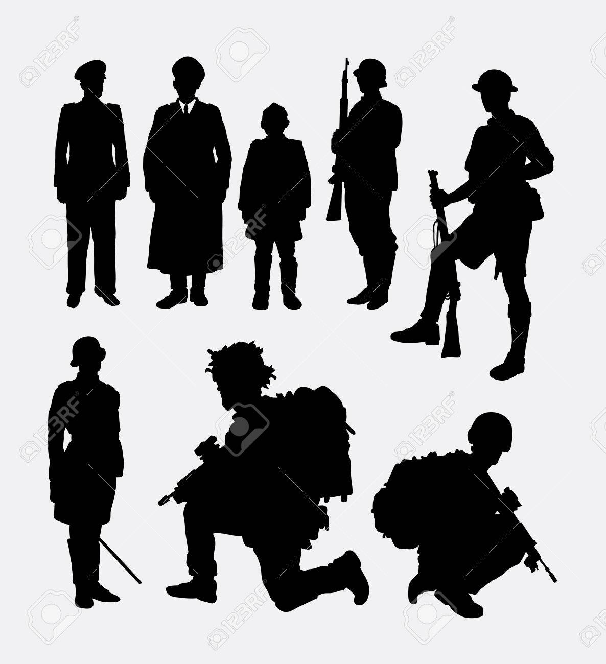 Soldier army police silhouette 4 good use for symbol web icon