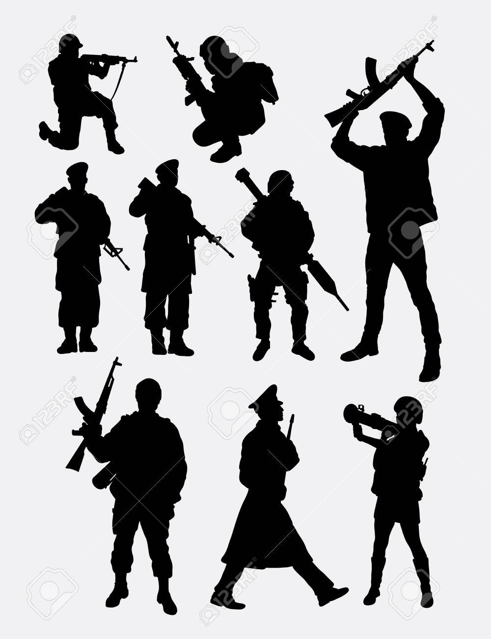 Military army soldier police security people profession silhouette good use