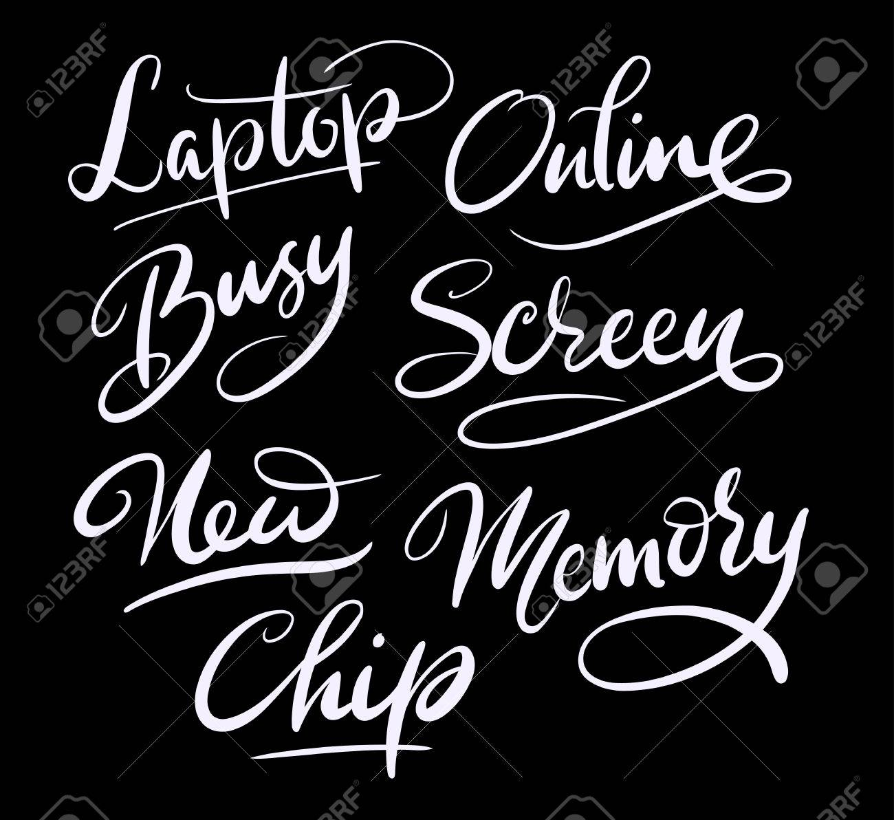 Online And Memory Hand Written Typography Good Use For Logotype