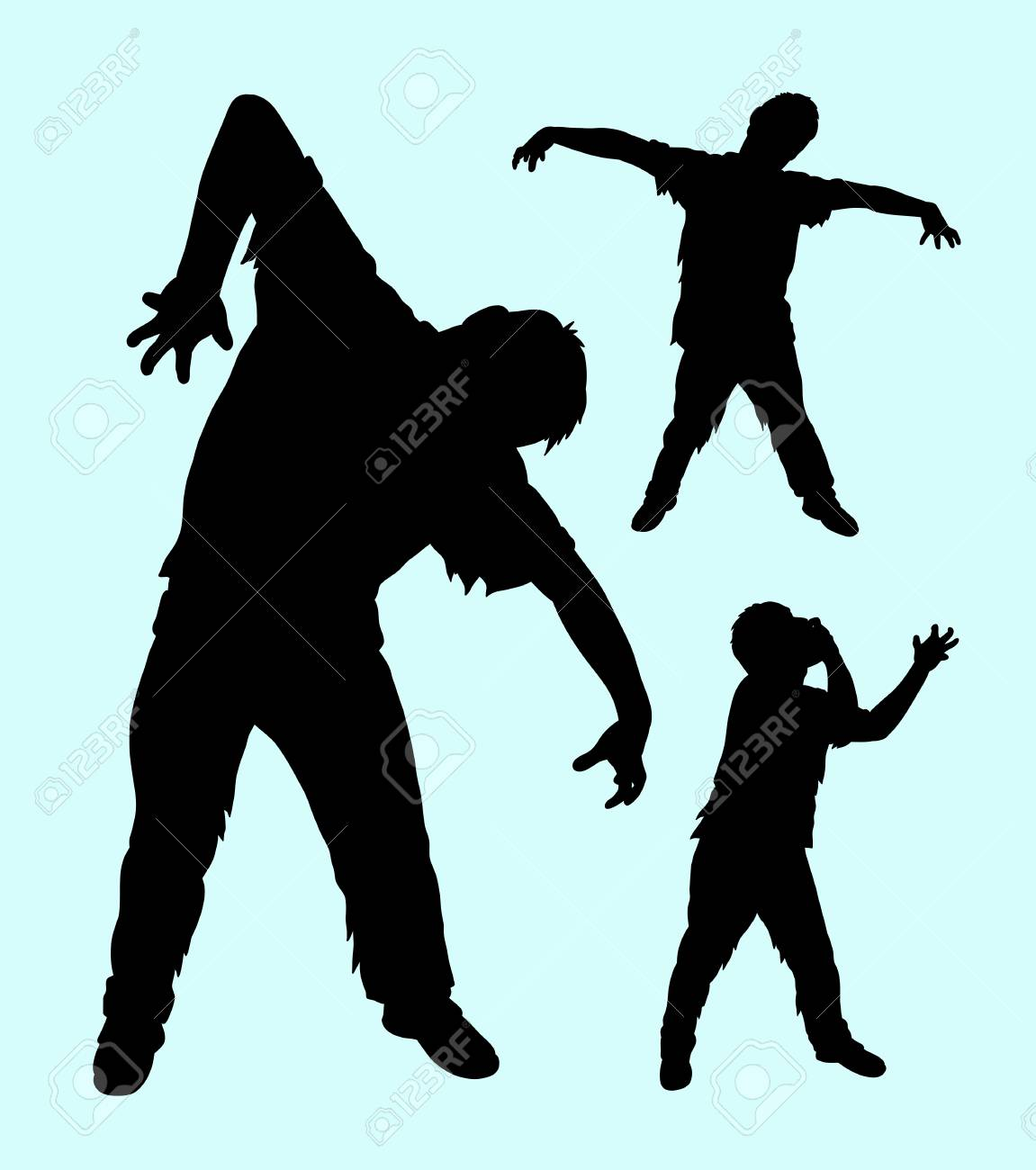 72ac79b4c3f Vector - Zombie horror male action silhouette. Good use for any design you  want. Easy to use or edit