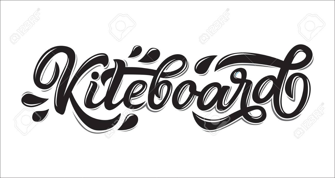 Kiteboard Lettering Logo In Graffiti Style Isolated On White Background Vector Illustration For Design T