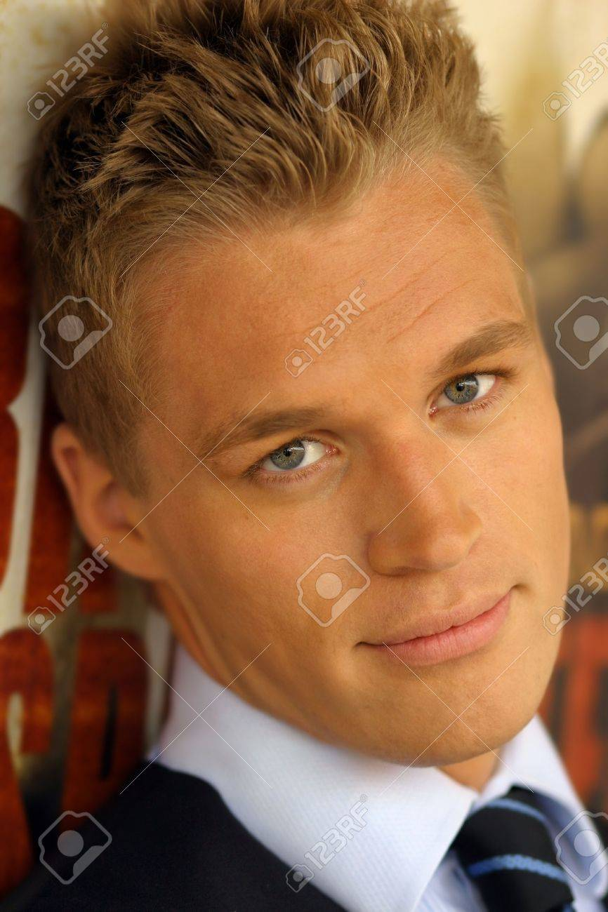 Close-up portrait of young male model in tie Stock Photo - 3829861