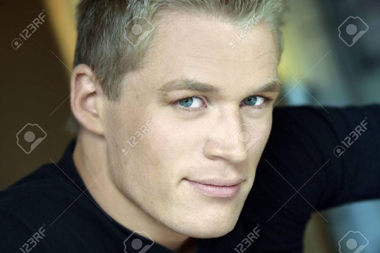 Blonde male hair model New Meat: