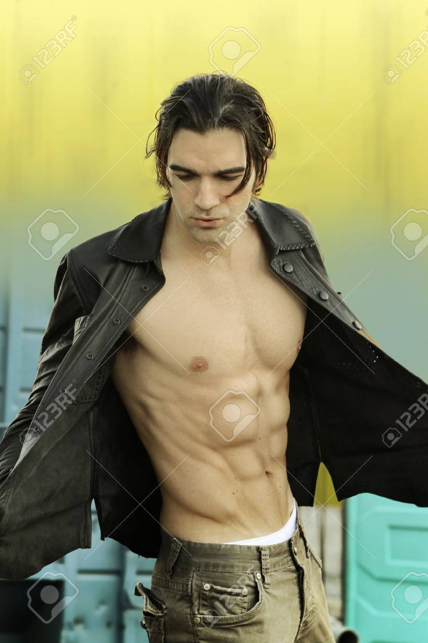 Leather Jacket No Shirt NlxVJB