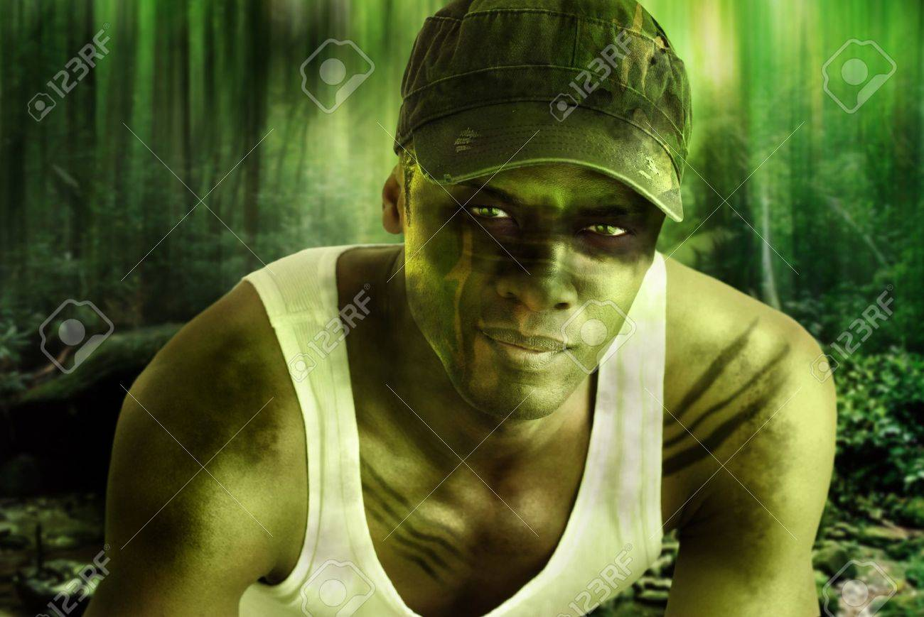 Stylized fantasy portrait of a cool army hero guy with face paint stylized fantasy portrait of a cool army hero guy with face paint and camo hat in voltagebd Choice Image