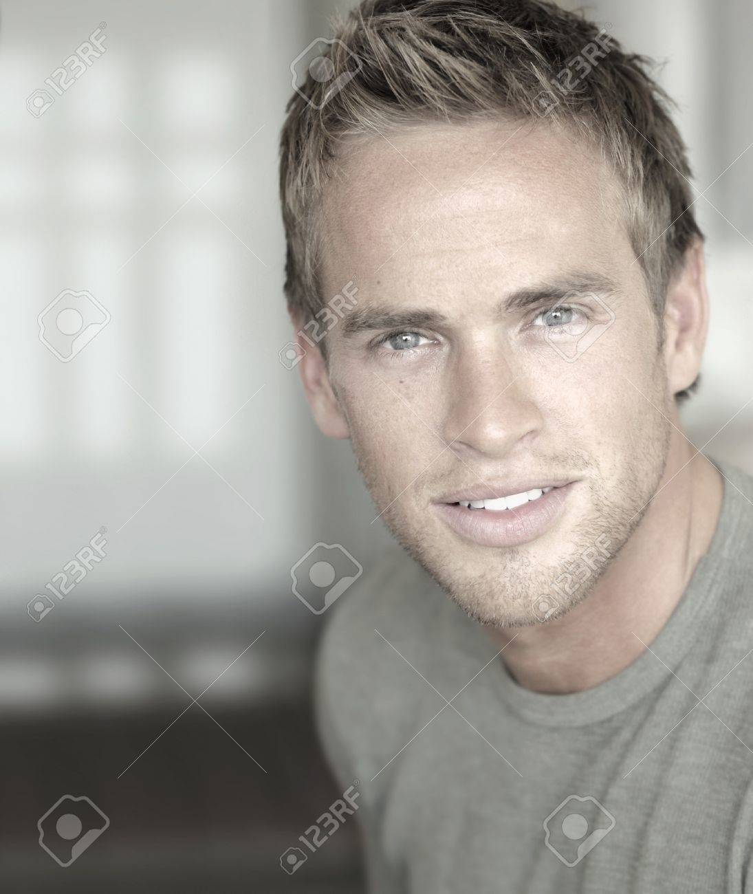 Close-up portrait of a young attractive man in modern cool style Stock Photo - 15153332
