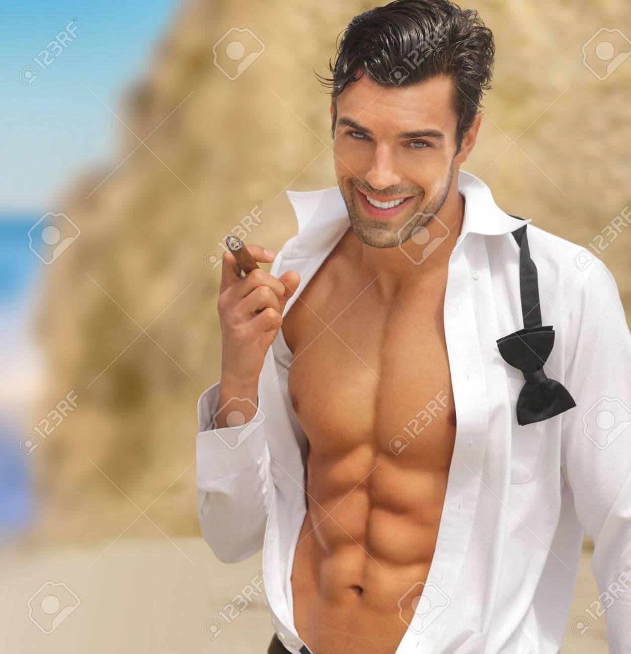 Sexy men with huge