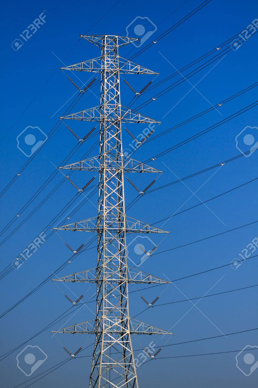 High voltage poles,Mono pole transmission line tower,The power