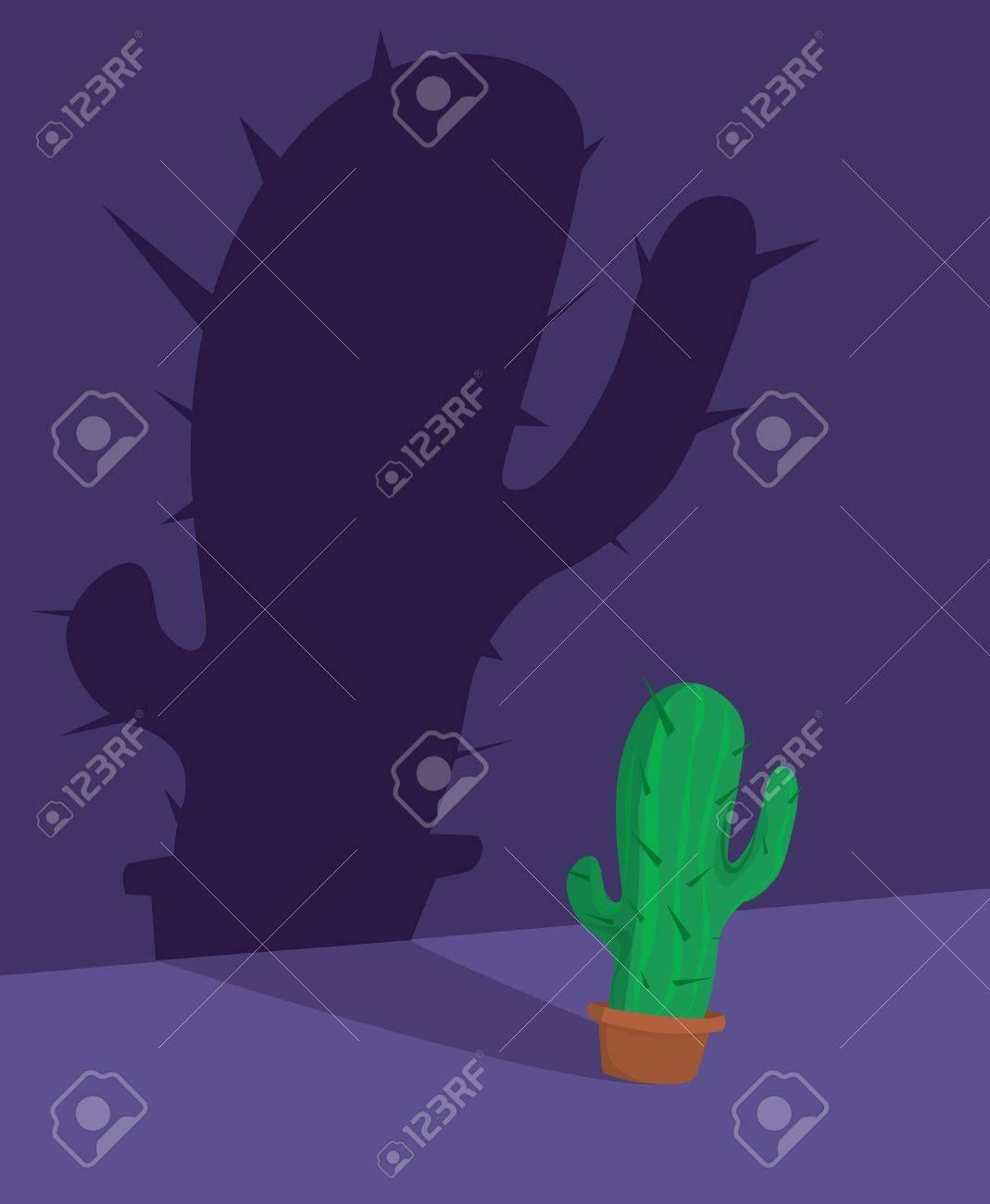 Scary cactus / Halloween Fear Stock Vector - 19128865