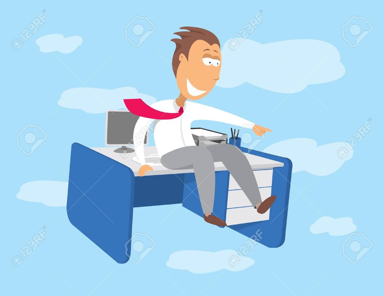 Lavoro Ufficio Clipart : Volare scrivania opportunità di lavoro clipart royalty free