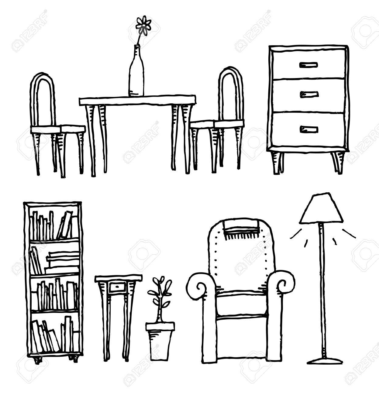 Furniture / Home equipment and decoration Stock Vector - 19150744