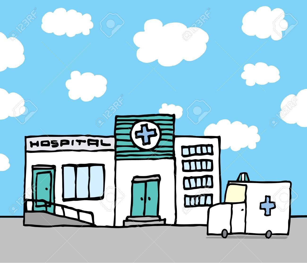 Hospital and ambulance Stock Vector - 19150718