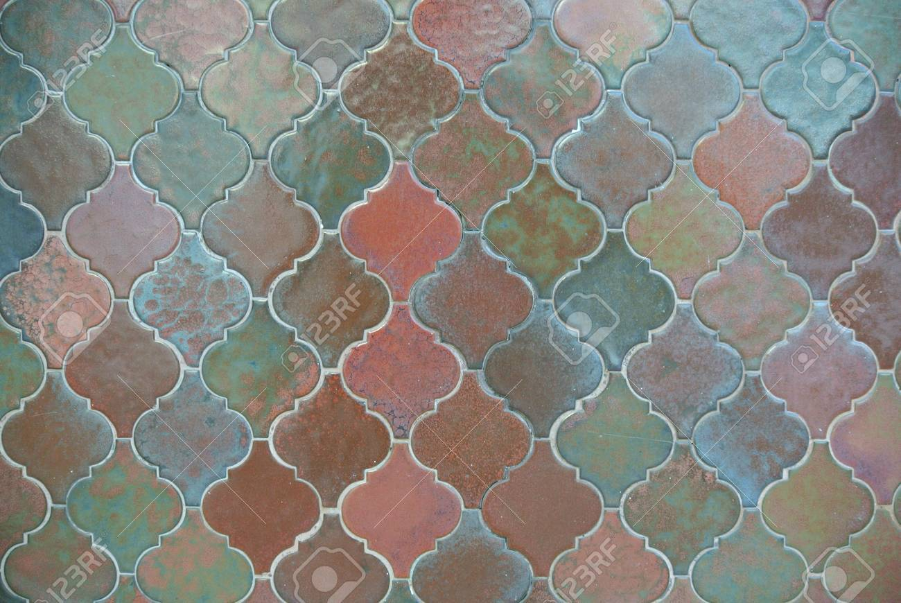 Fancy Tile Design With Stylish Colors Stock Photo, Picture And ...