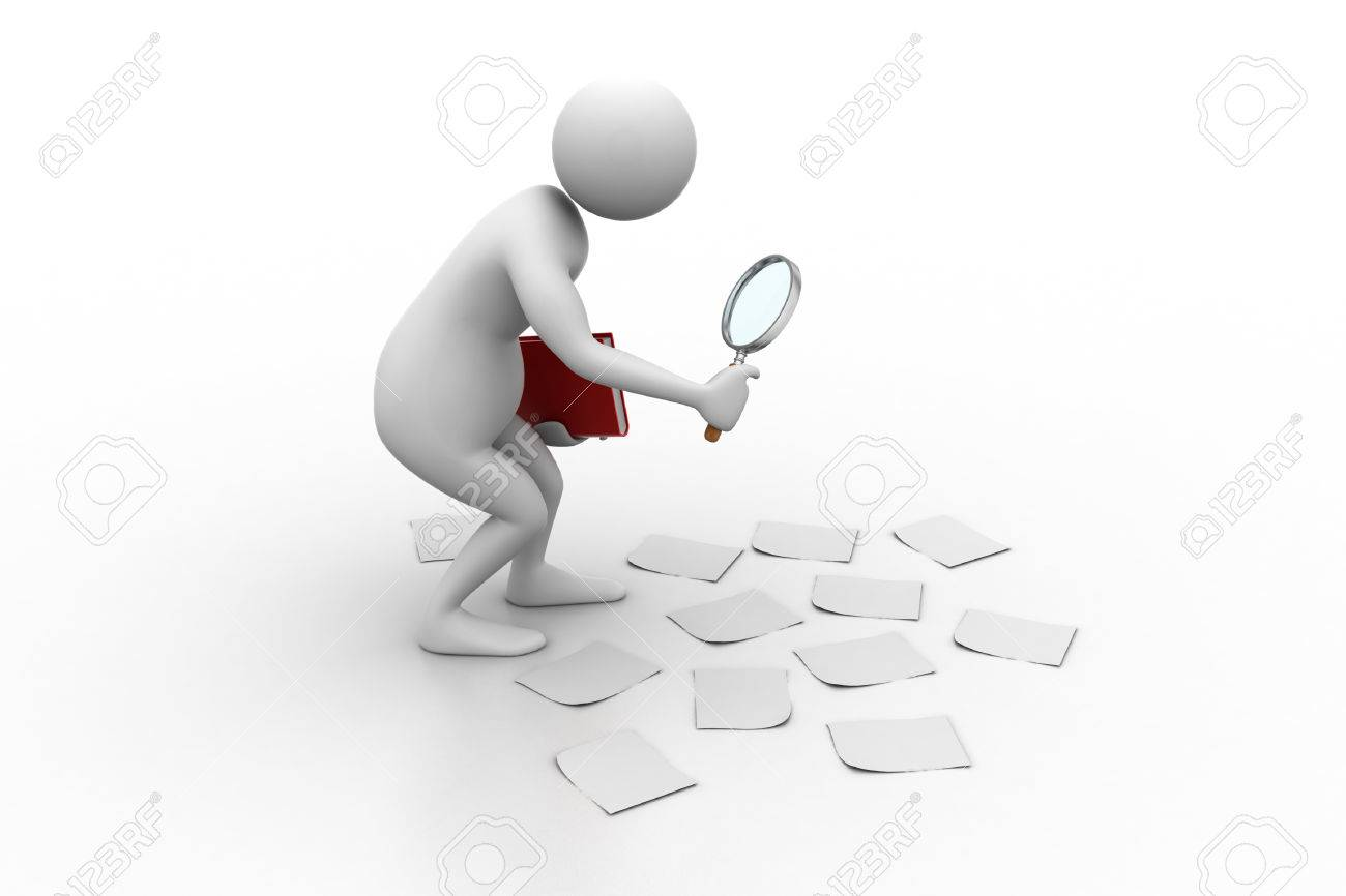 3d Man Analysing Stock Photo, Picture And Royalty Free Image. Image  24488511.