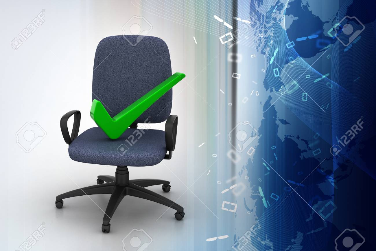 Right mark sitting comfortable computer chair Stock Photo - 35405210 & Right Mark Sitting Comfortable Computer Chair Stock Photo Picture ...