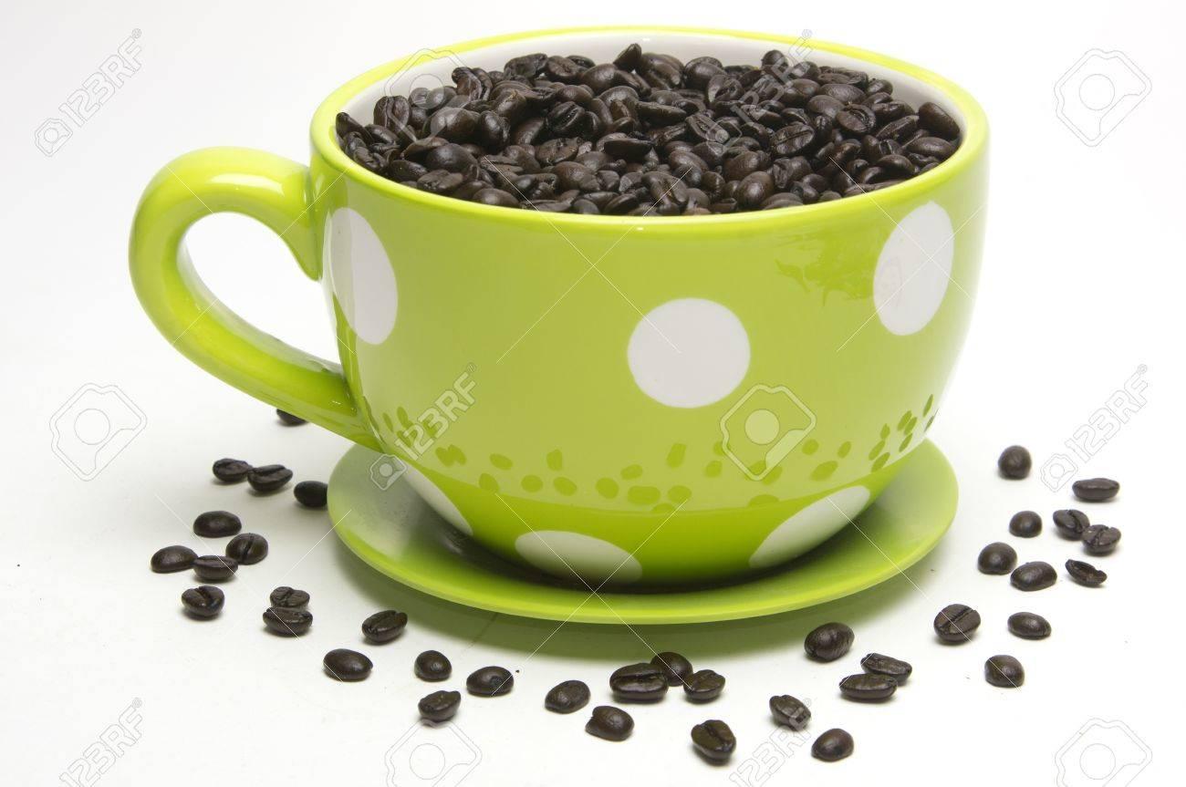 Dot Beans On White Yellow With Polka Filled Coffee Mug c3ARj54SLq
