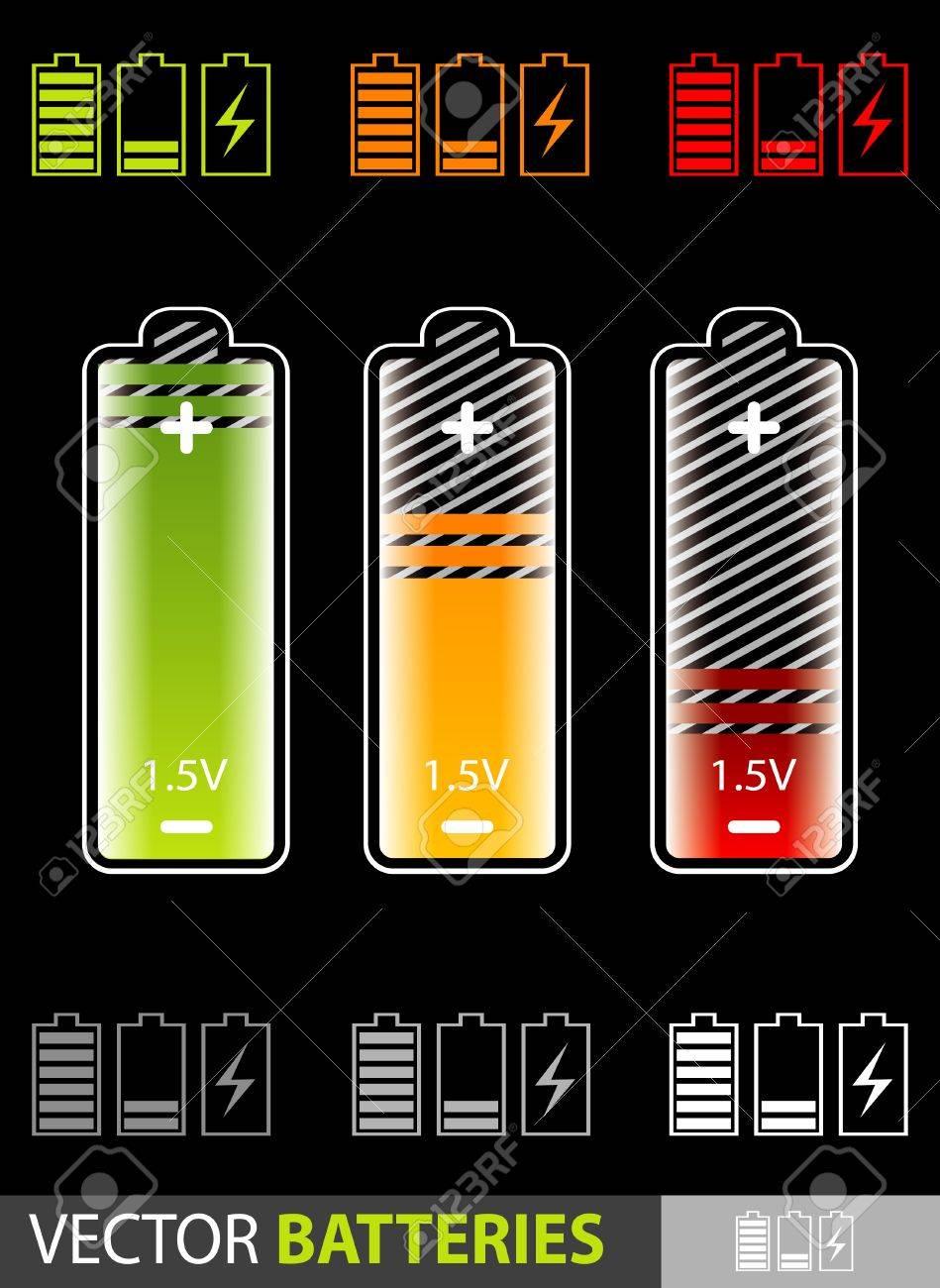 batteries Stock Vector - 10437714