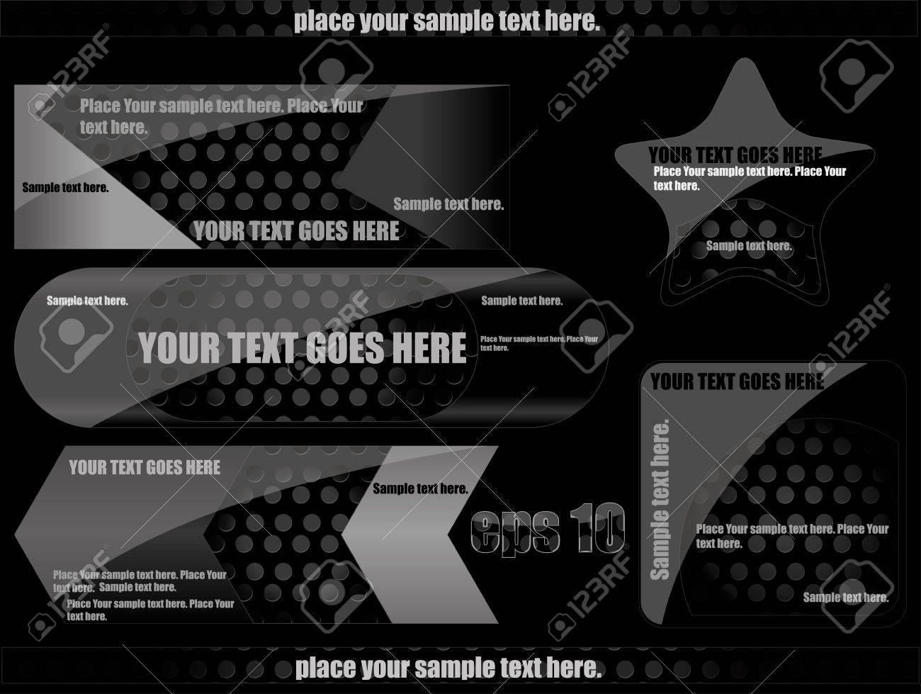 black backgrounds Stock Vector - 10437739