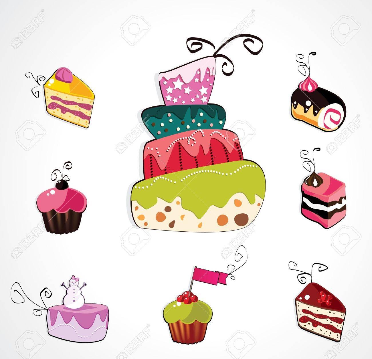 Sweet pastry set Stock Vector - 12770869